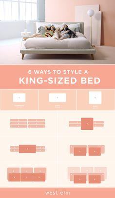 Bedding Master Bedroom, Master Room, Bedroom Decor, Bedroom Ideas, Bed Goals, Pillow Storage, Dallas Apartment, Bedroom Styles, Bedroom Designs