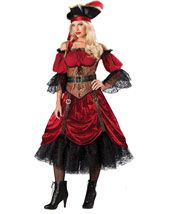 Womens Pirate Costumes - Adult Swash Bucklin Scarlet Costume
