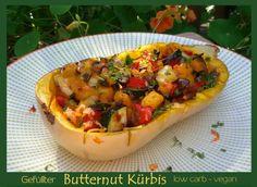 Gefüllter Butternut Kürbis low carb vegan Hier habe ich ein leckeres, veganes low carb Rezept für euch. Ich mag den Butternut Kürbis, weil er viel Fruchtfleisch,also wenig Kerne enthält und…