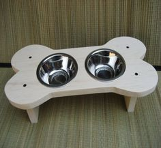 Raised Bone Dog Bowl Dog Dish /Feeder Give a Dog by cocollectibles, $32.00