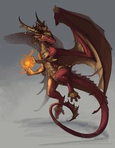 Red Dragon Girl October Winner Art by The-SixthLeafClover on DeviantArt Lizard Dragon, Red Dragon, Dragon Art, Fantasy Creatures, Mythical Creatures, Dragon Rouge, Concept Art Landscape, Art Steampunk, Art Tutorial
