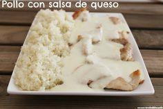 Pechugas de pollo con salsa de queso Cocinando una rápida, practica, rica y saludable receta, que ademas de deliciosa, te sacara de apuros si tienes visitas en casa.