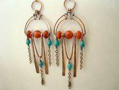 Boho Earrings  Bohemian Jewelry  Art Deco by Weaversfield on Etsy
