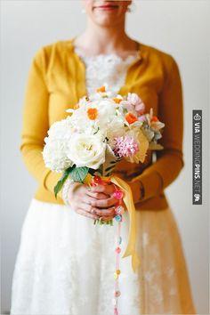 daffodil wedding bouquet by We + You | VIA #WEDDINGPINS.NET