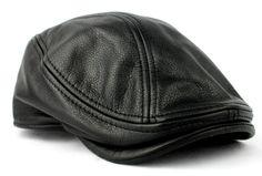 Stetson Mens Black Leather Ivy Hat Newsboy Driver Cap s M L XL Gatsby Steampunk | eBay