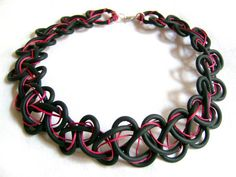 Black Neoprene Necklace / choker / Valentines day by PROPSfashion, €22.00