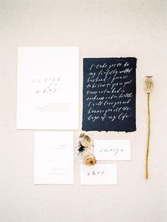 black and white wedding invitations/ rustic chic wedding invitations