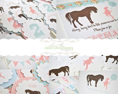 Pony Party Package by TheGreenGrassGrows on Etsy, $112.50