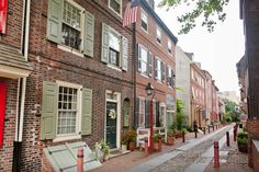 Elfreth's Alley in Philadelphia, Pennsylvania, enjoys the distinction of being the oldest continuously-inhabited residential street in America. The first homes were built in 1720.