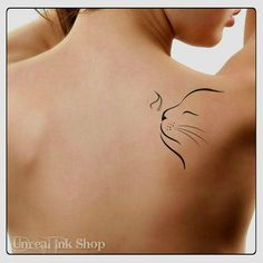 Temporary Tattoo Cat Fake Tattoo Thin Durable