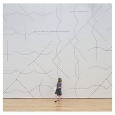 Sol Lewitt. Wall Drawing #136: Arcs and lines, 1972 via Dia...