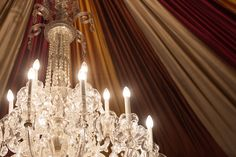 Historic sparkling chandelier in the Belvedere Ballrooms  |  Baltimore, MD  |  Jennifer McMenamin Photography