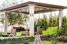 Louvered Pergola, Pergola Curtains, Wooden Pergola, Diy Pergola, Pergola Kits, Carport Ideas, Outdoor Spaces, Outdoor Living, Pool Cabana