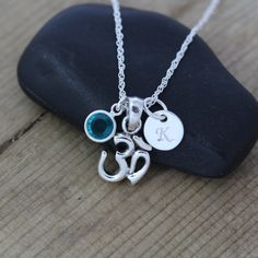Yoga Jewelry Sterling Silver OM Necklace by LifeOfSilver on Etsy