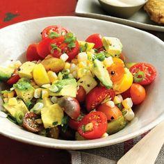 Tomato, Corn, and Avocado Salad Recipe - Delish.com