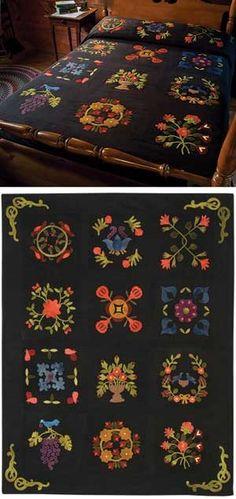 1847 Baltimore Bride wool felt quilt monthly program via homesteadhearth.com