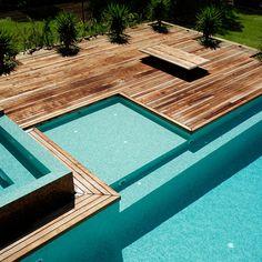 Custom built luxury pool in Blairgowrie VIC 3942, Australia. Expertly designed by Aloha Pools Pty Ltd.