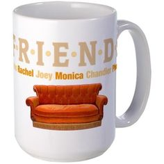 FriendsTV Mugs #Friends #FriendsTV  Central Perk Sofa lots of shirts cases more - for this design click here -  http://www.cafepress.com/dd/101237789