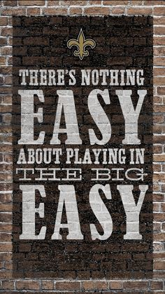 The Big Easy is tough, and so is missing out on football. Make your life easy with NFL Mobile from Verizon and keep up with all the Saints action. Nfl Football Teams, Best Football Team, Football Memes, Sports Teams, New Orleans Saints Logo, New Orleans Saints Football, New Saints, Saints Gear, Who Dat