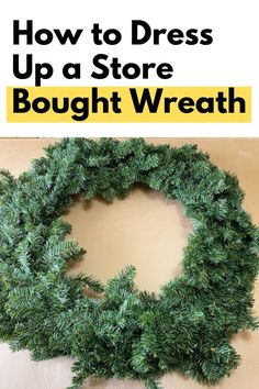 Quick Christmas wreath for front door on a budget. Make over a plain dollar store holiday wreath easy Christmas craft DIY. Decorate you living room or entryway on a budget with this cheap Christmas wreath idea. Christmas Wresth, Dollar Store Christmas, Natural Christmas, Easy Christmas Crafts, Simple Christmas, Christmas Decorations, Christmas Wreaths For Front Door, Holiday Wreaths, Holiday Ideas