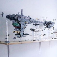 A cool Star Wars MOC, I think to scale.