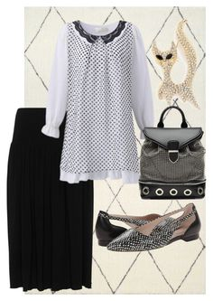 """""""plus size isabelle"""" by aleger-1 on Polyvore featuring Isolde Roth, Alexander McQueen, Cole Haan and Cara"""