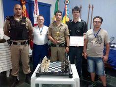 Frutal - PM do 37º BPM participam de torneio de xadrez realizado pela 4ª Cia Ind