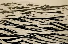 river woodblock - Google Search
