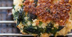 Fried Green Quinoa Cakes with Avocado Dip