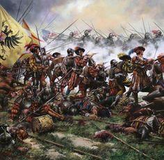 La batalla en la que los arcabuceros españoles masacraron a la caballería más letal de Europa, vista por Ferrer-Dalmau.