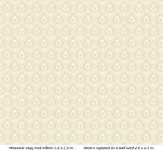 Lim & Handtryck Tapet - Älgå vit/grön