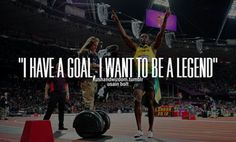 I have a goal, I want to be Legendary.