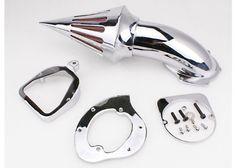 Gloshop Chrome Gloshop Air Cleaner Kits Spike Filter for 1998 & up Honda Shadow Spirit ACE 750