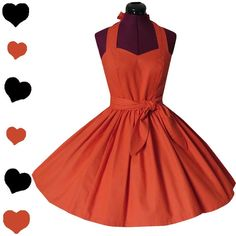 Vintage 80s 50s Laura Ashley ORANGE NOS Full Skirt Wrap Party Dress M Swing Prom Halloween