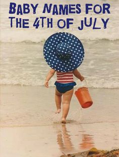 Baby Names For The 4th of July #parents #pregnancy #parenting #babies #usa #flag #patriotic