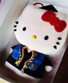 Hello Kitty graduation cake with honors