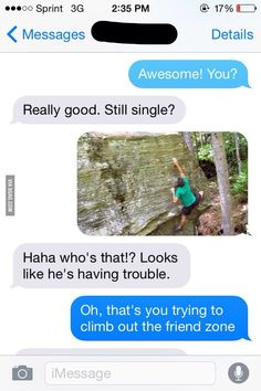 The friendzone. - Friendzone Funny - Friendzone Funny meme - - How about some ice for that burn? The post The friendzone. appeared first on Gag Dad. Funny Texts Jokes, Text Jokes, Cute Texts, Stupid Funny Memes, Funny Relatable Memes, 9gag Funny, Funny Text Fails, Lol, Friendzone