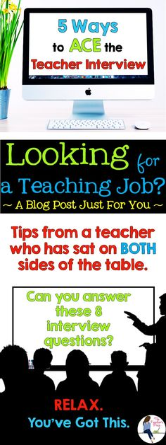 How to ace the a interview for a teaching job. Teaching Resume, Teaching Jobs, Student Teaching, Teaching Strategies, Teaching Resources, Teaching Ideas, Teacher Interview Questions, Teacher Interviews, Teaching Interview Outfit