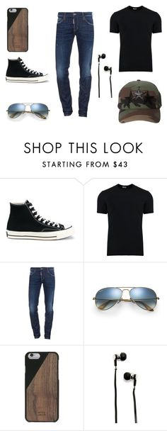 """""""Perfect outfit"""" by ihasgummyworms on Polyvore featuring Converse, Dolce&Gabbana, Dsquared2, Ray-Ban, Native Union, Master & Dynamic, AMIRI, men's fashion and menswear"""