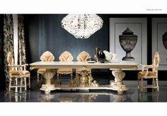 Luxusní nábytek do jídelny v italském zámeckém stylu, více na: http://www.saloncardinal.com/silik-a56