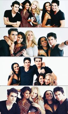 Everyone's smiling and having fun...and then there's Stefan XD