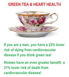 Green Tea protect heart. Must drink more!