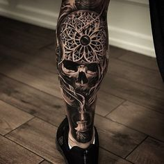 52 Best Tattoos Inspired by Classical Art and More for Handsome Mens tattoos inspired by art; tattoos inspired by books; tattoos inspired by movies; tattoos inspired by depression; tattoos inspired by history; tattoos inspired by nature Tattoos Arm Mann, Skull Tattoos, Leg Tattoos, Body Art Tattoos, Calf Tattoo Men, Leg Sleeve Tattoo, Tattoo Sleeve Designs, Tattoo Bras Homme, Tattoo Caveira