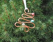Copper Christmas Ornaments - 1 big AND 1 little