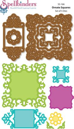 Designs by Marisa: JustRite Papercraft CHA Winter Release - Ornate Squares Card