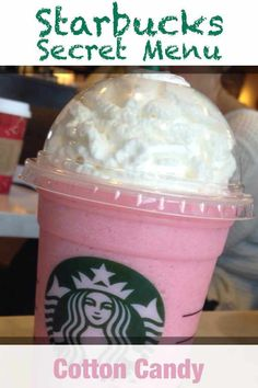 Starbucks Secret Menu Cotton Candy Frappuccino Recipe Starbucks Cotton Candy Frappuccino is an unofficial coffee drink on the Secret Menu at Starbucks. This recipe will show you how to make one. Starbucks Kids Drinks, Starbucks Secret Menu Drinks, Kid Drinks, Coffee Drinks, Yummy Drinks, Iced Coffee, Cotton Candy Frappuccino, Cotton Candy Starbucks Recipe, Starbucks Vanilla