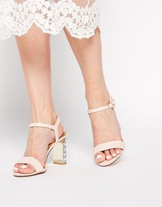 Trendy Black Tie Dune Maia Patent Embellished Block Heeled Sandals $162
