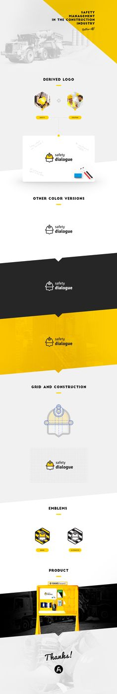 "The logo ""Safety dialogue"" is a promotion the Product ""Rams Boards"" that help on the Safety management in the construction industry.---Hire me: falgowski @ gmail.com"