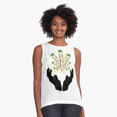 'Holy Joint / Praying For Weed' Sleeveless Top by RIVEofficial Holi, Weed, Pray, Custom Design, Trends, Tank Tops, Stuff To Buy, Accessories, Shopping