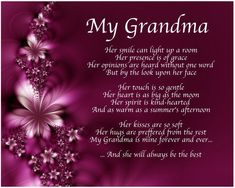Personalised My Grandma Poem Mothers Day Birthday Christmas Gift Present Quotes Happy